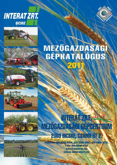 Agricultural Machine Catalogue 2011